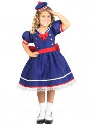 Disfarce marinheiro azul menina