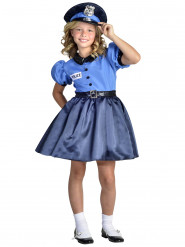 Disfarce vestido de polícia menina