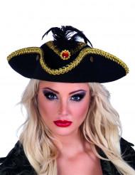 Chapéu tricorne pirata - mulher