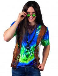 T-shirt hippie azul homem