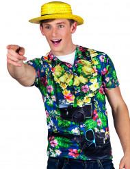 T-shirt turista havaiano homem
