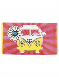 Bandeira Hippie Flower Power 90 x 150 cm