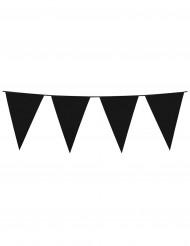 Grinalda de bandeirolas pretas 10 m