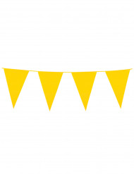 Grinalda de bandeirolas amarelas 10m