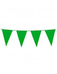 Grinalda de bandeirolas verde