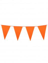 Grinalda de bandeirolas cor de laranja 10m