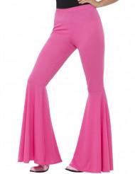 Calças disco cor-de-rosa mulher