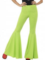 Calças Disco verdes para mulher