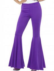 Calças Disco violeta para mulher