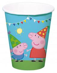 8 Copos de cartão Peppa Pig™