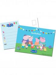8 Convites Peppa Pig™ - Porquinha Peppa Pig™ !