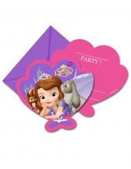 6 Convites com envelopes Princesa Sofia™