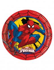 8 Pratos de cartão Ultimate Spiderman™