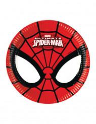 8 Pratos pequenos de cartão Ultimate Spiderman™
