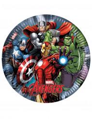 8 pratos Avengers Power™ 23 cm