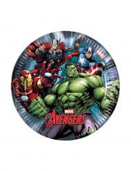 8 pratos Avengers Power™ 19,5 cm