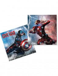 20 Guardanapos Capitão América™ e Iron Man™