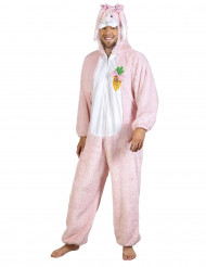 Disfarce Coelho cor-de-rosa luxo adulto
