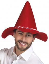 Chapéu bávaro vermelho adulto