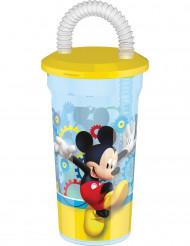 Copo de plástico com palhinha Mickey™ 45 cl