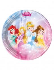 8 Pratos de cartão Princesas Disney™ 23 cm