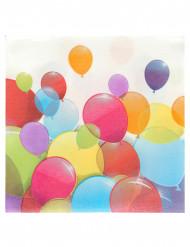 20 Guardanapos de papel balões voadores