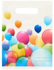 6 Sacos de festa balões voadores 16.5 x 23 cm