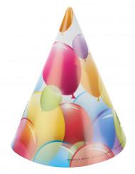 6 Chapéus de festa balões voadores