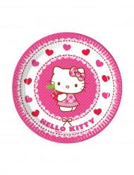8 Pratos pequenos de cartão Hello Kitty™