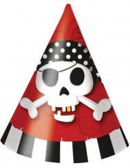 6 Chapéus de festa Mapa do tesouro Pirata