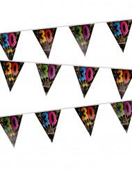 Grinalda 20 bandeirolas 30 anos Fogo de artificio