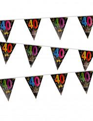 Grinalda 20 bandeirolas 40 anos Fogo de artificio
