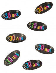 80 Confetis de mesa 30 anos Fogo de artificio