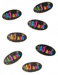 80 Confetis de mesa 40 anos Fogo de artificio