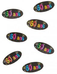 80 Confetis de mesa 60 anos Fogo de artificio