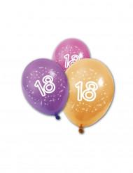 8 Balões látex aniversário 18 anos