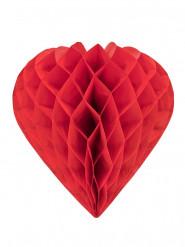 Coração de papel vermelho 30 cm