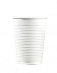100 Copos brancos de plástico