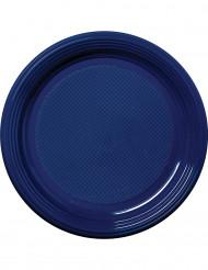 30 Pratos azuis de plástico