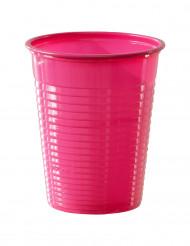 50 Copos cor-de-rosa fúcsia de plástico