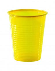 50 Copos amarelos de plástico
