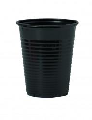 50 Copos de plástico preto