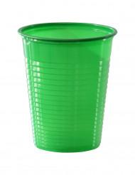 50 Copos verdes de plástico