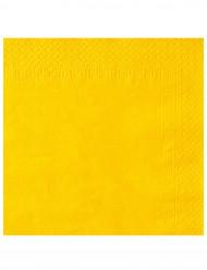 50 Guardanapos amarelos