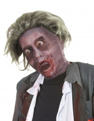 Capuz de zombie com peruca adulto homem