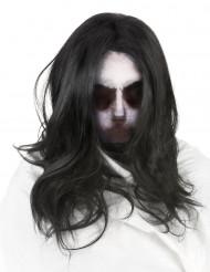 Capuz de fantasma com peruca adulto Halloween