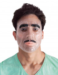 Máscara transparente homem adulto
