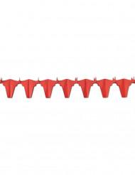 Grinalda papel touro vermelho 4,5 m
