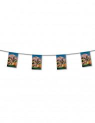 Grinalda bandeiras em papel Country 4 m