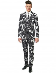 Fato preto e branco homem Suitmeister™ Halloween